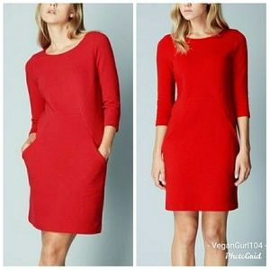 Boden | Red Seam Detail Tunic Day Dress (Size 8L)